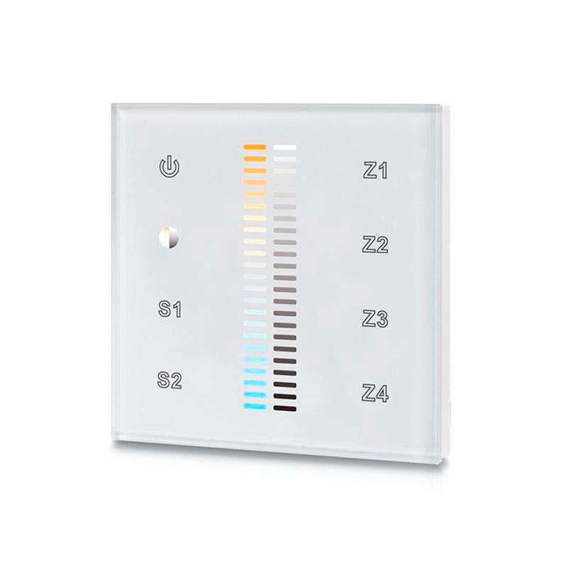 Mando LB2830 DUAL RF, Táctil 4 zonas, blanco